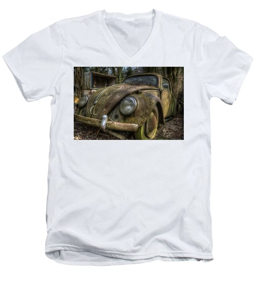 Rusty Vee Dub  Men's V-Neck T-Shirt by Nathan Wright