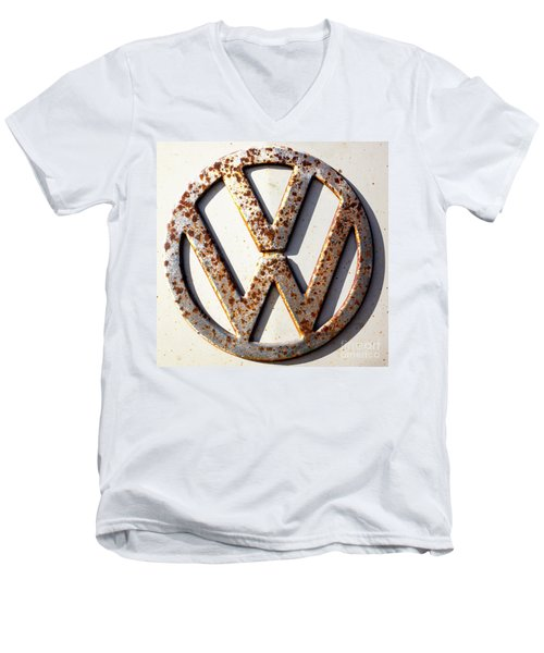 Vintage Vw Sign Men's V-Neck T-Shirt