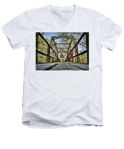 Englewood Bridge Men's V-Neck T-Shirt by Cricket Hackmann