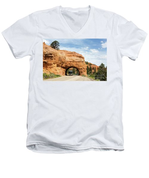 Rv Red Canyon Tunnel Utah Men's V-Neck T-Shirt