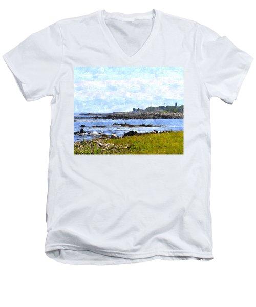 Rye Harbor Rhwc Men's V-Neck T-Shirt by Jim Brage