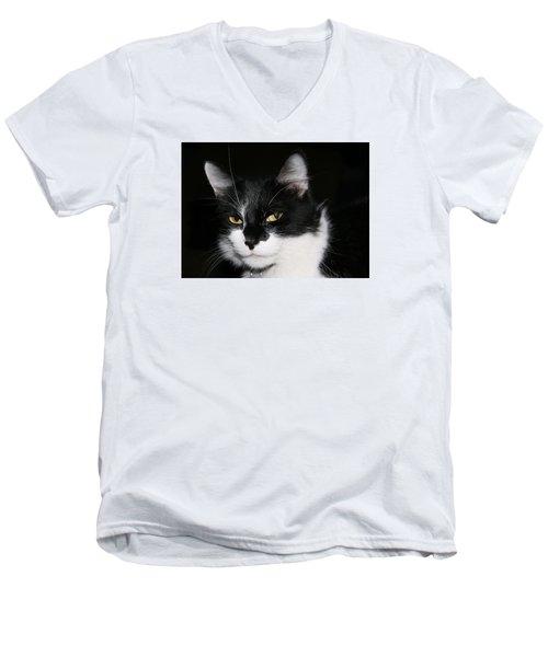 Men's V-Neck T-Shirt featuring the photograph Sabrina by Karen Harrison