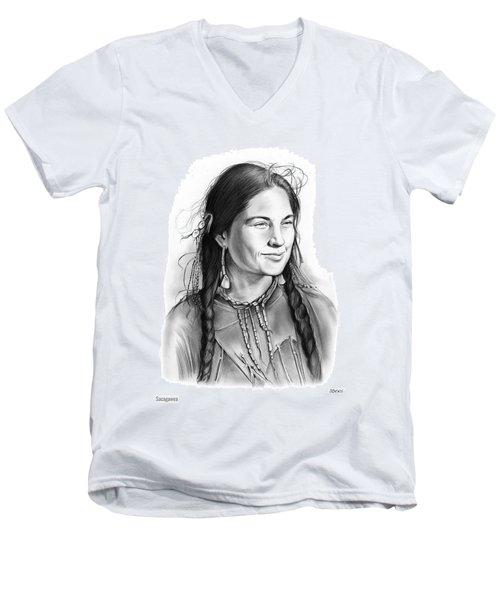 Sacagawea Men's V-Neck T-Shirt