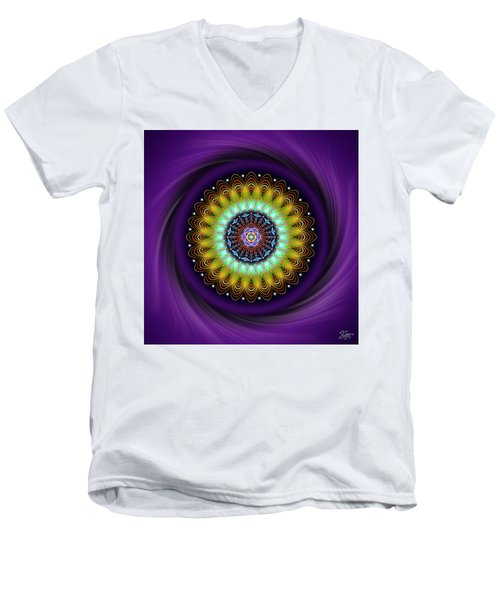 Sacred Geometry 710 Men's V-Neck T-Shirt