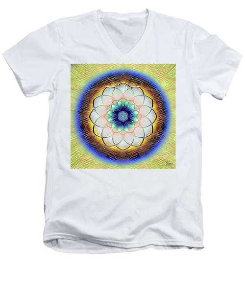 Sacred Geometry 723 Men's V-Neck T-Shirt