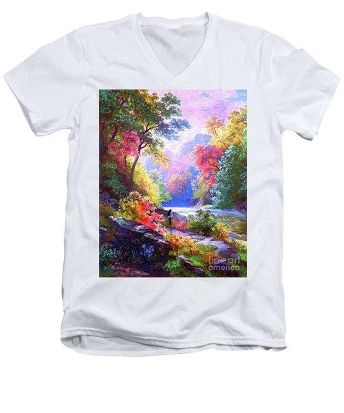 Sacred Landscape Meditation Men's V-Neck T-Shirt