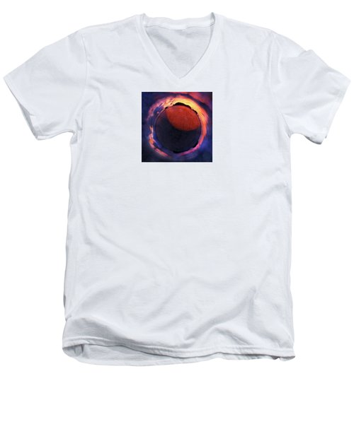 Sacred Planet - Sunset - New Zealand Men's V-Neck T-Shirt