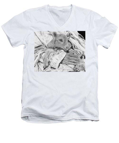Safe Men's V-Neck T-Shirt