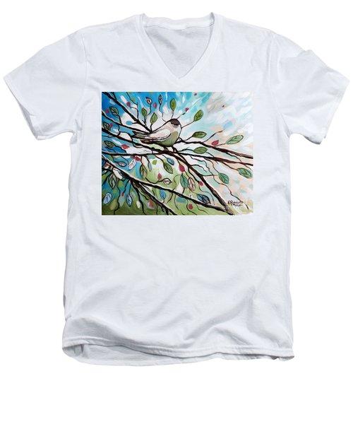 Sage Glimmering Songbird  Men's V-Neck T-Shirt