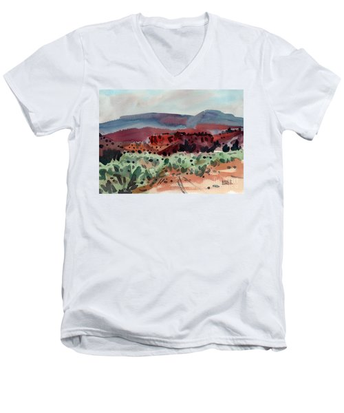 Sage Sand And Sierra Men's V-Neck T-Shirt by Donald Maier