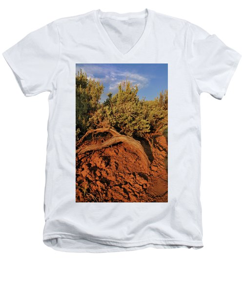 Sagebrush At Sunset Men's V-Neck T-Shirt