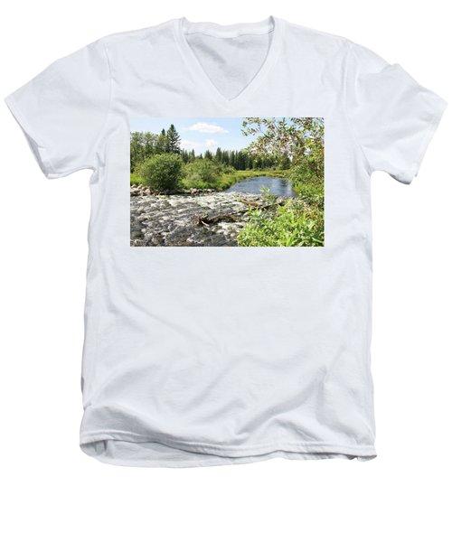 Saginas Lake Men's V-Neck T-Shirt