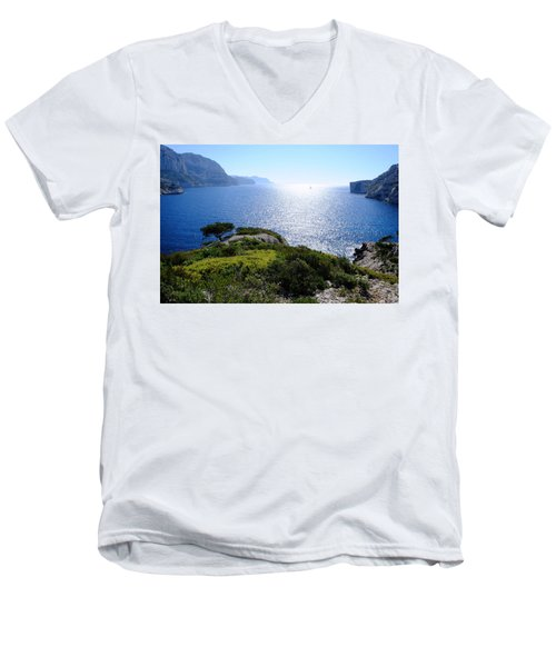 Sailing In The Vastness Men's V-Neck T-Shirt