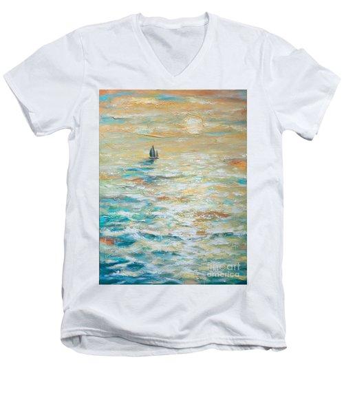 Sailing Into The Sunset Men's V-Neck T-Shirt