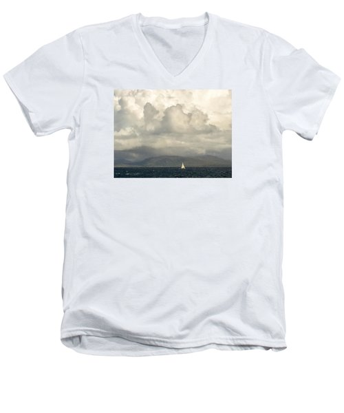Sailing Scottish Seas Men's V-Neck T-Shirt