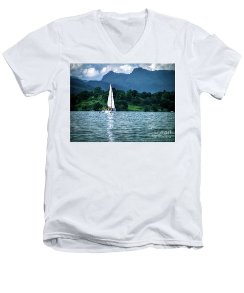 Sailing The Lakes Men's V-Neck T-Shirt