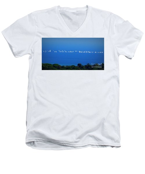 Sailing The Sea And Sky Men's V-Neck T-Shirt
