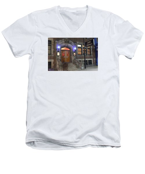 Men's V-Neck T-Shirt featuring the photograph Saint Andrew's Music Hall by Michael Rucker