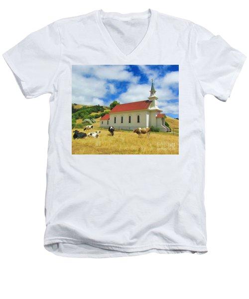 St. Mary's Visitors Men's V-Neck T-Shirt