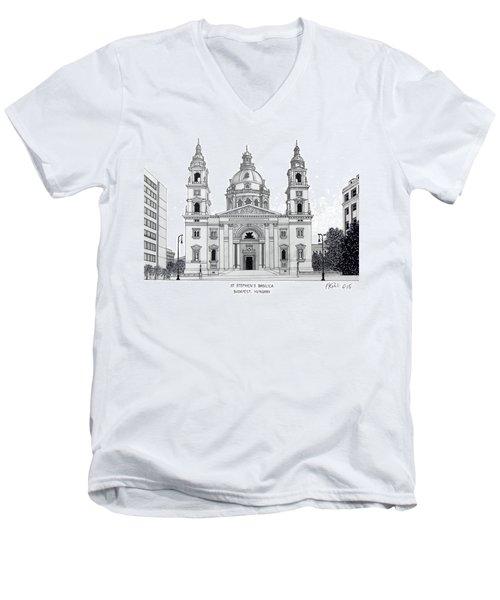 Saint Stephens Basilica Men's V-Neck T-Shirt by Frederic Kohli