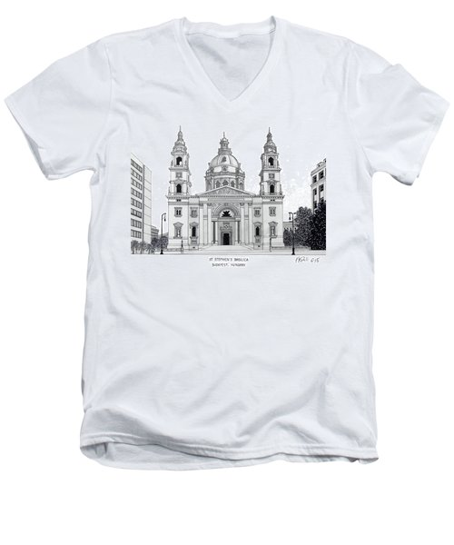 Saint Stephens Basilica Men's V-Neck T-Shirt