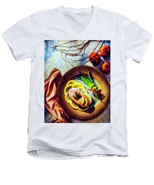 Salmon Dinner Men's V-Neck T-Shirt