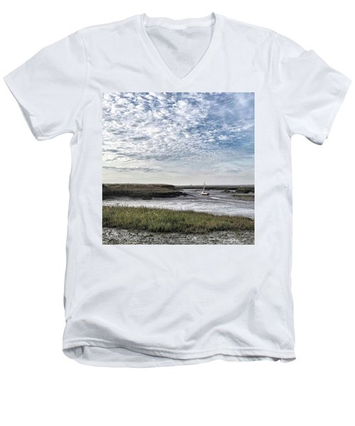Salt Marsh And Creek, Brancaster Men's V-Neck T-Shirt
