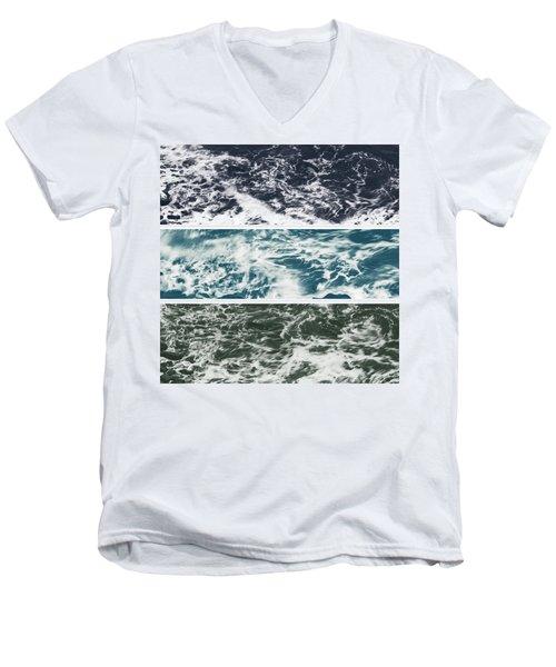 Salt Water Triptych Variation 2 Men's V-Neck T-Shirt