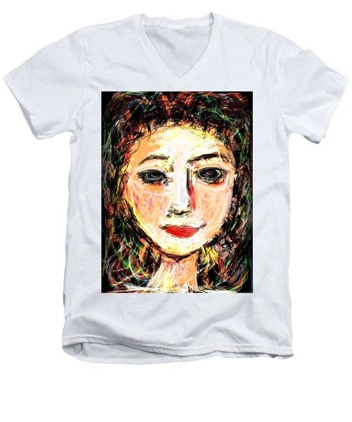 Samantha Men's V-Neck T-Shirt by Elaine Lanoue