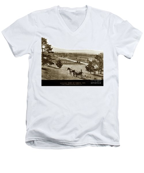 Samuel J. Duckworth Pauses To Look Upon What Would Become Carmel 1890 Men's V-Neck T-Shirt