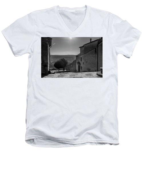 San Francesco Monastery - Fiesole, Italia. Men's V-Neck T-Shirt by Sonny Marcyan