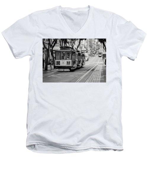 San Francisco Cable Cars Men's V-Neck T-Shirt