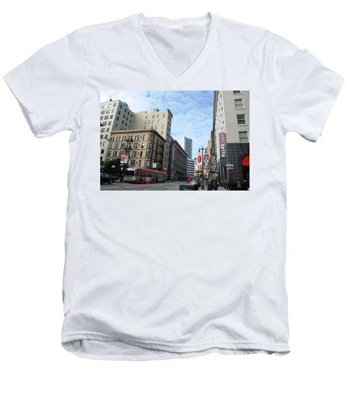 San Francisco - Jessie Street View Men's V-Neck T-Shirt by Matt Harang