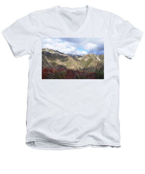 San Gabriel Mountains National Monument Men's V-Neck T-Shirt by Kyle Hanson
