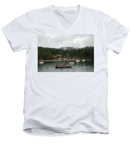 San Juan - Orcas Island  Men's V-Neck T-Shirt