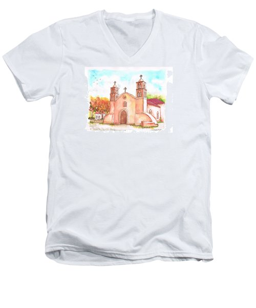 San Miguel Catholic Church, Socorro, New Mexico Men's V-Neck T-Shirt