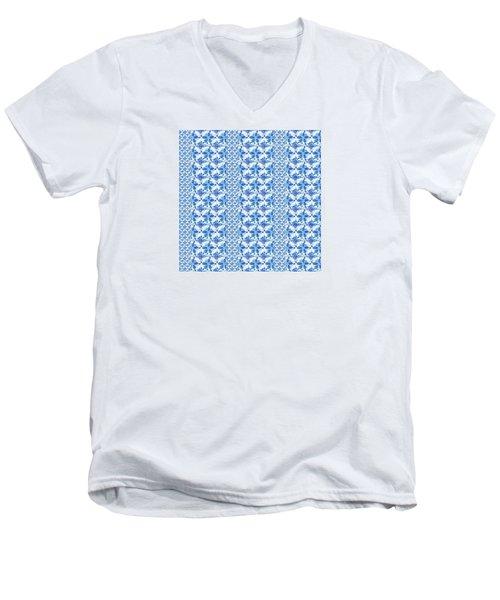 Sand Dollar Delight Pattern 2 Men's V-Neck T-Shirt
