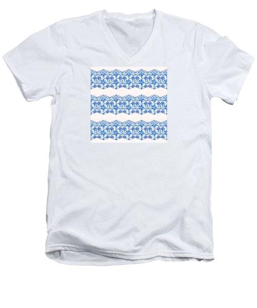 Sand Dollar Delight Pattern 4 Men's V-Neck T-Shirt