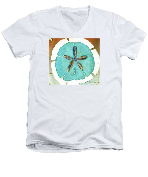 Sand Dollar Star Attraction Men's V-Neck T-Shirt