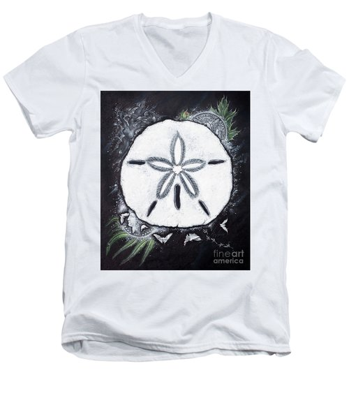 Sand Dollars Men's V-Neck T-Shirt by Scott and Dixie Wiley