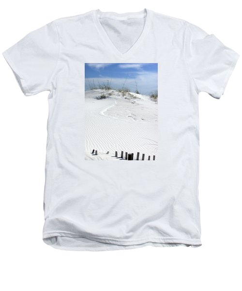 Men's V-Neck T-Shirt featuring the photograph Sand Dunes Dream 2 by Marie Hicks