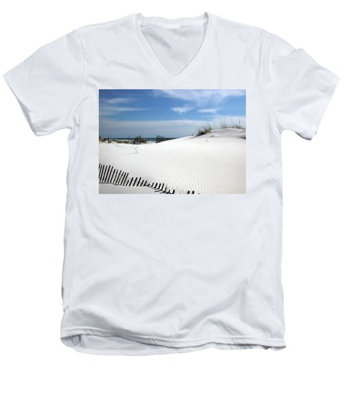 Sand Dunes Dream Men's V-Neck T-Shirt by Marie Hicks