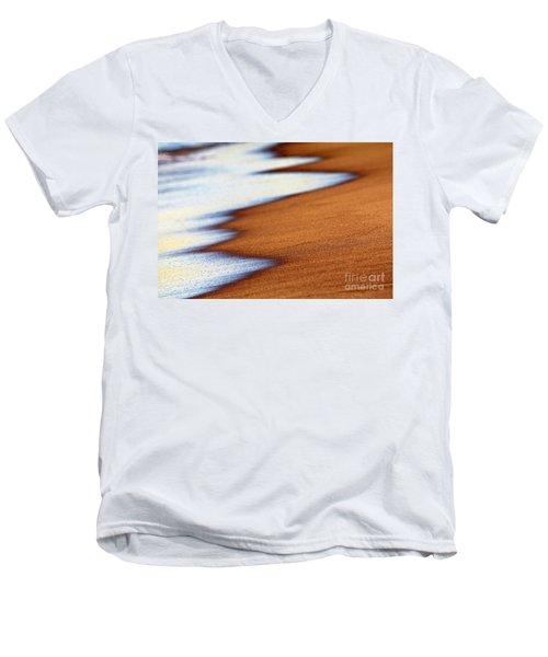 Sand And Waves Men's V-Neck T-Shirt by Tony Cordoza