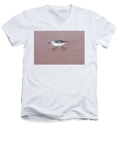 Sanderling On The Run Men's V-Neck T-Shirt