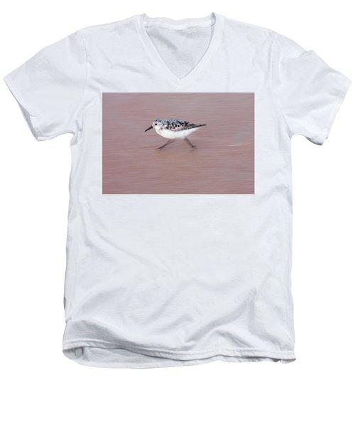 Sanderling On The Run Men's V-Neck T-Shirt