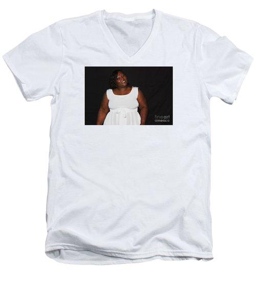 Sanderson - 4566 Men's V-Neck T-Shirt by Joe Finney