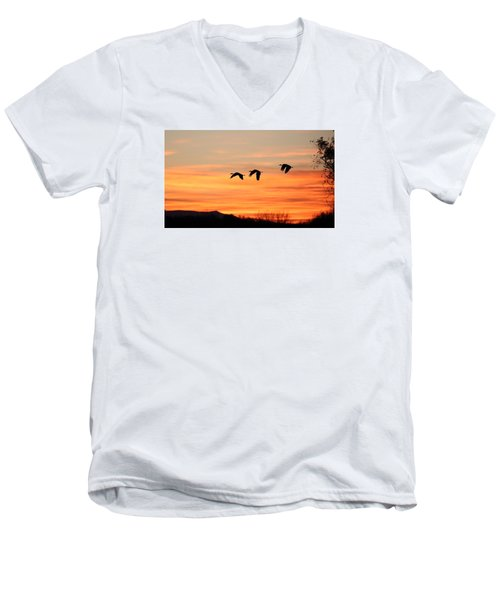 Sandhill Sunrise 2 Men's V-Neck T-Shirt