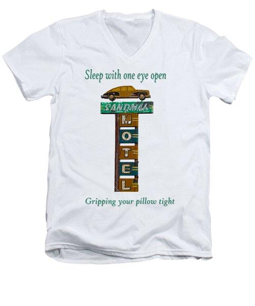 Sandman Motel 2 Men's V-Neck T-Shirt