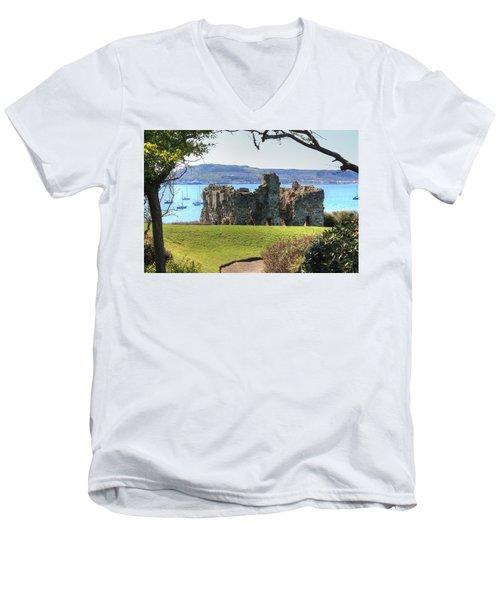Sandsfoot Castle With Portland Men's V-Neck T-Shirt