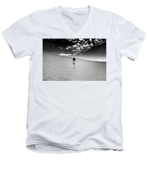 Sandy Dune Nude - Catching The Clouds Men's V-Neck T-Shirt